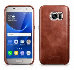 iCarer Samsung Galaxy S7 Vintage Back Cover Series Genuine Leather Case