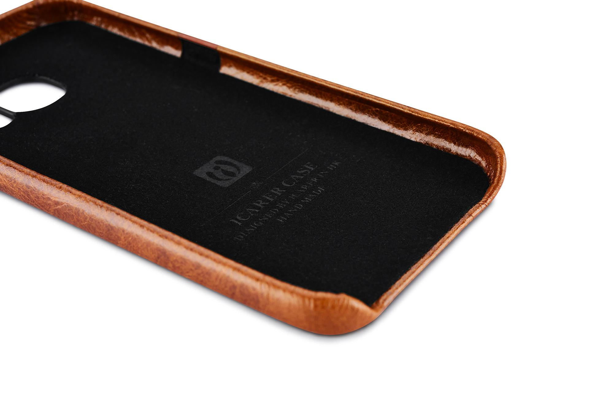 iCarer Samsung Galaxy S7 Oil Wax Back Cover Series Genuine Leather Case 5