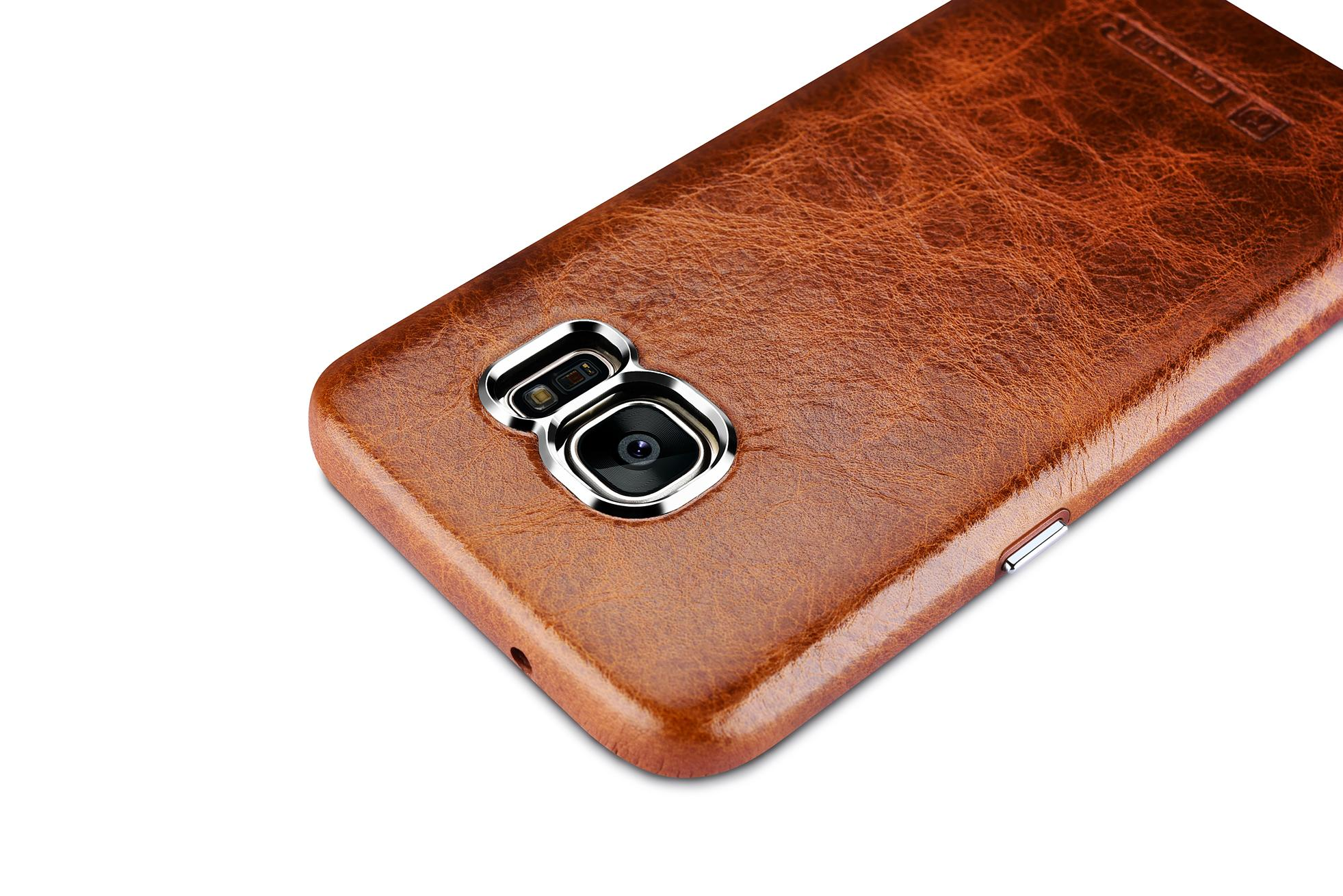 iCarer Samsung Galaxy S7 Oil Wax Back Cover Series Genuine Leather Case 8