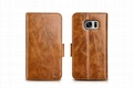 iCarer Samsung Galaxy S7 Oil Wax Leather Detachable 2 in 1 Wallet Folio Case 16