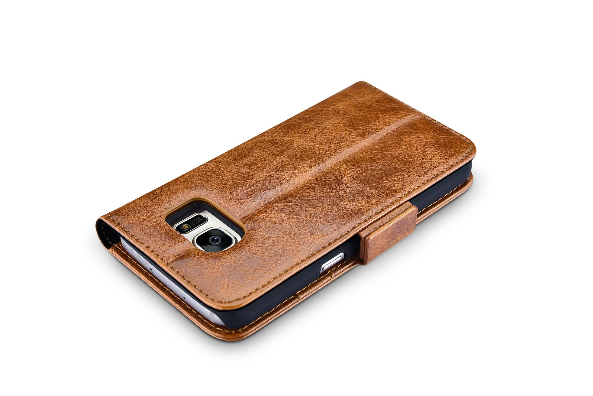 iCarer Samsung Galaxy S7 Oil Wax Leather Detachable 2 in 1 Wallet Folio Case 4