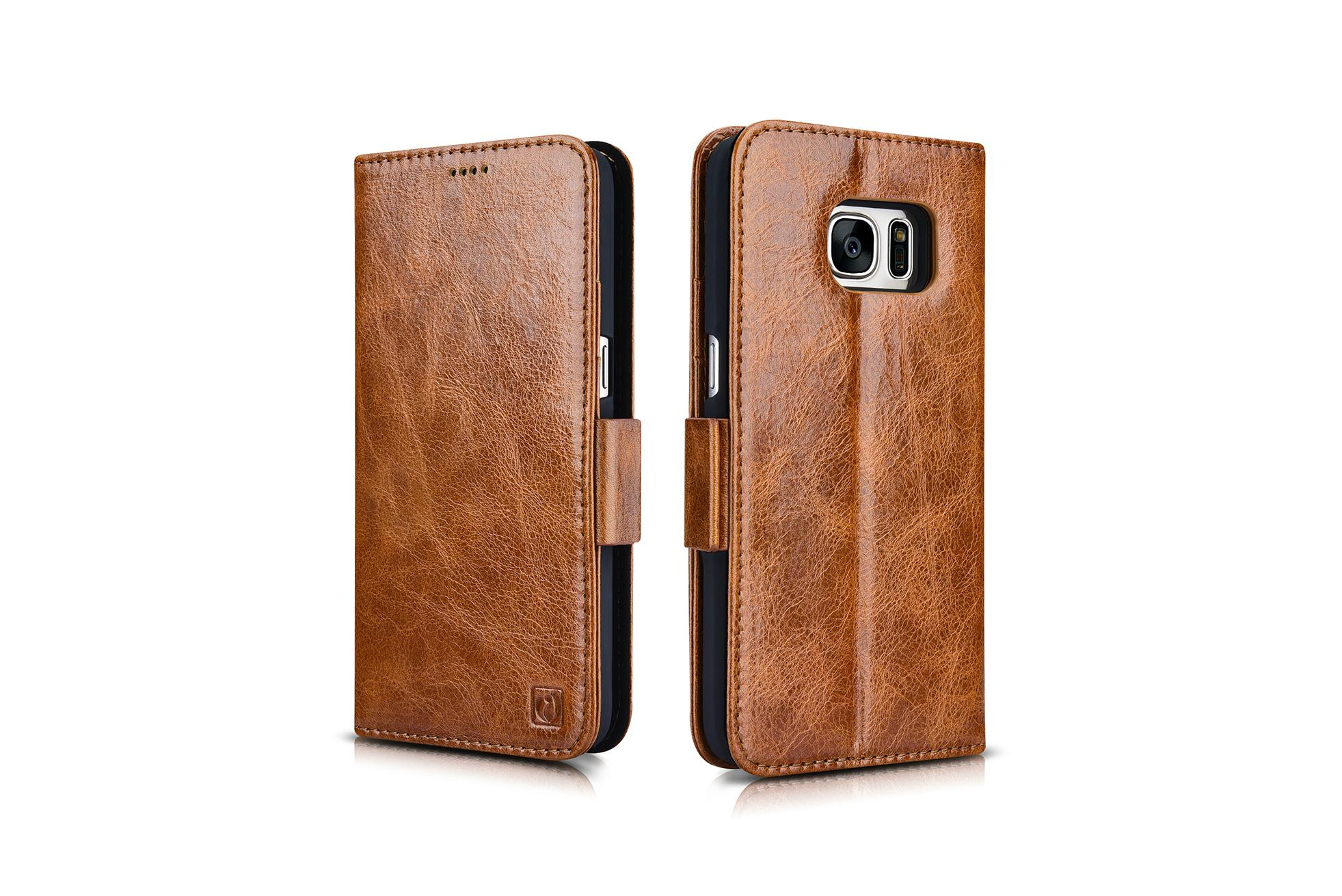 iCarer Samsung Galaxy S7 Oil Wax Leather Detachable 2 in 1 Wallet Folio Case 17