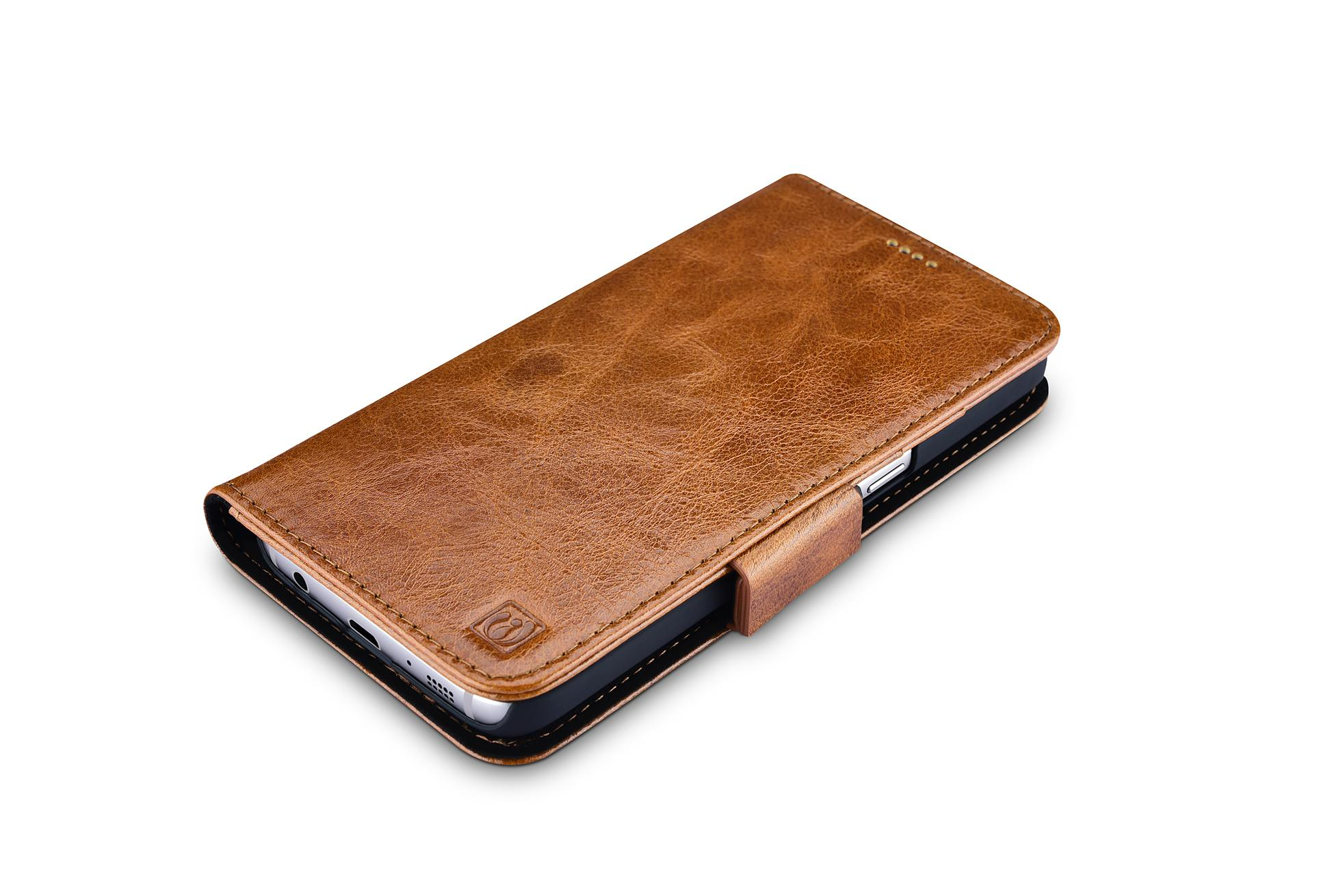 iCarer Samsung Galaxy S7 Oil Wax Leather Detachable 2 in 1 Wallet Folio Case 3