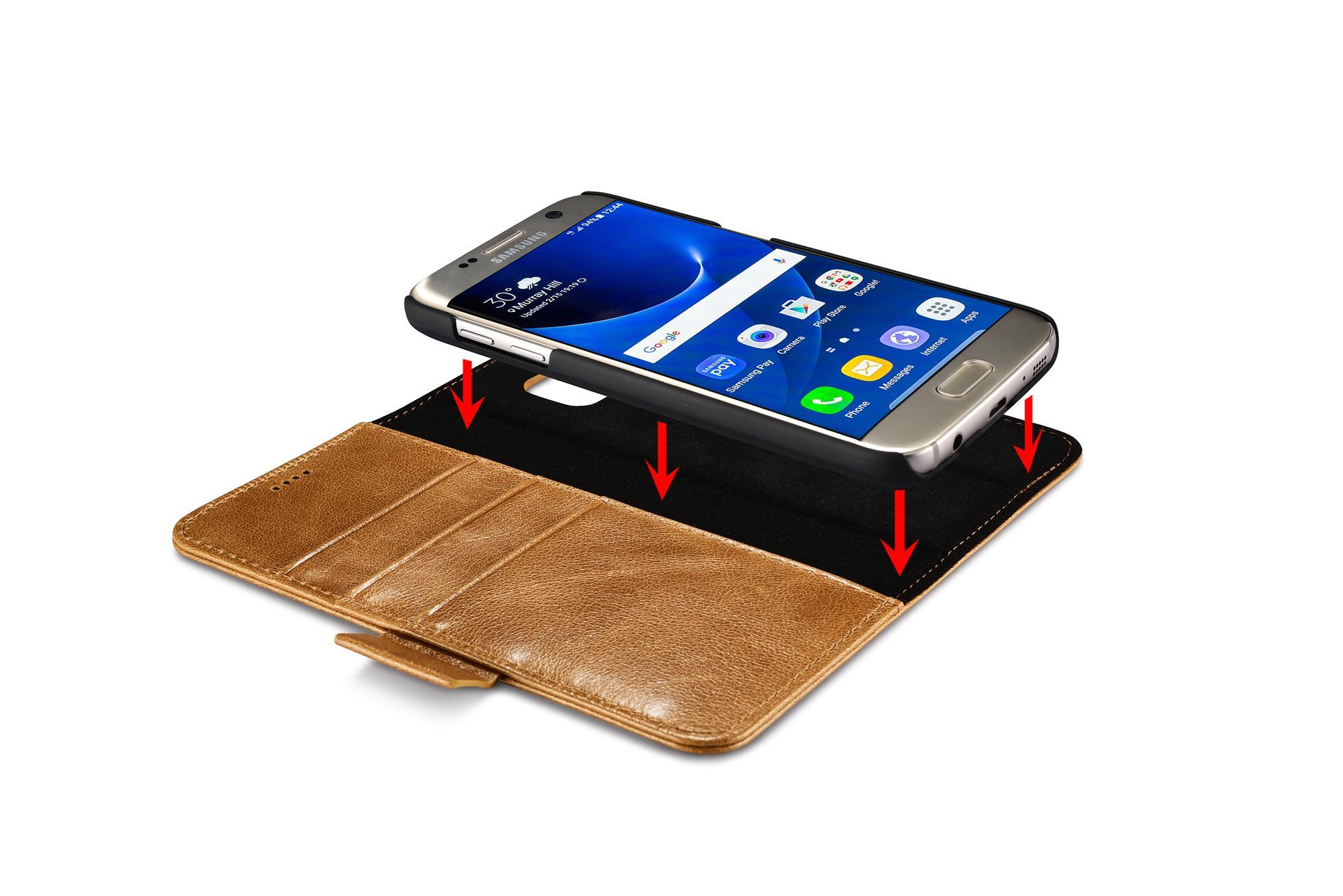 iCarer Samsung Galaxy S7 Silmarillion Leather Detachable 2in1 Wallet Folio Case 16