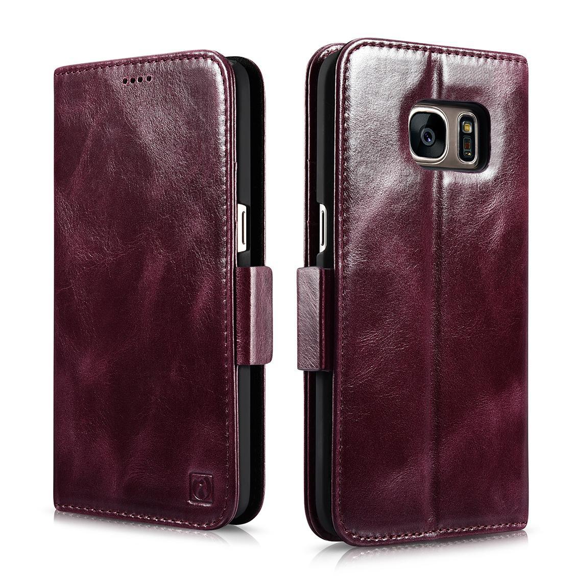 iCarer Samsung Galaxy S7 Silmarillion Leather Detachable 2in1 Wallet Folio Case 1