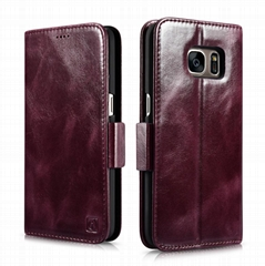 iCarer Samsung Galaxy S7 Silmarillion Leather Detachable 2in1 Wallet Folio Case