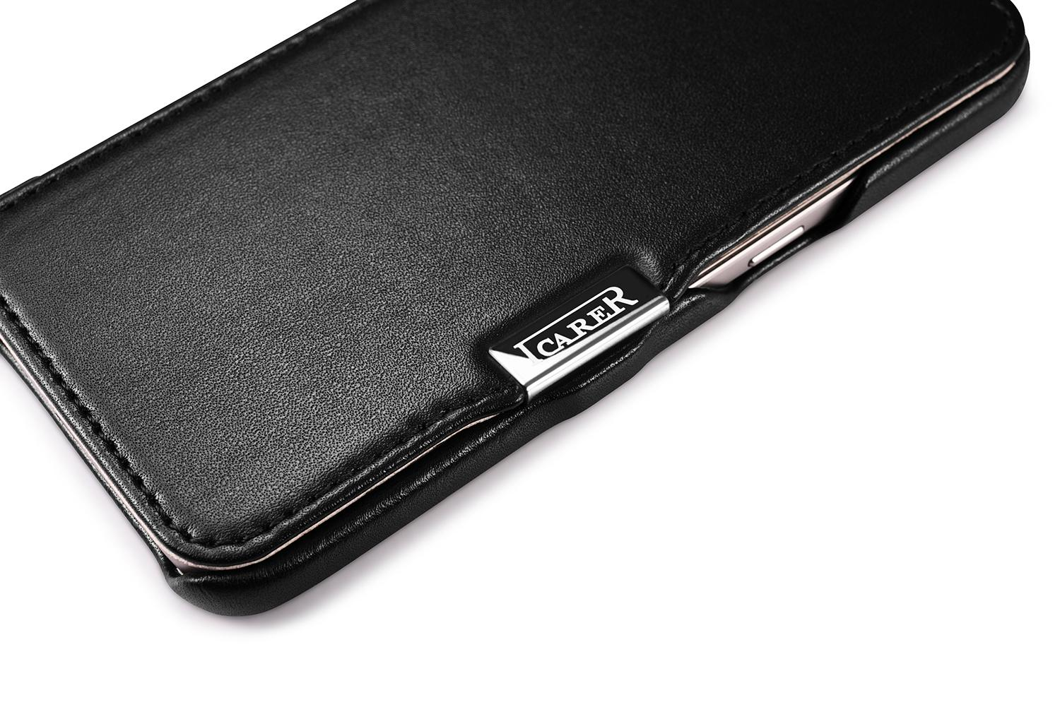 iCarer Samsung Galaxy S7 Luxury Series Side Open Genuine Leather Case 7