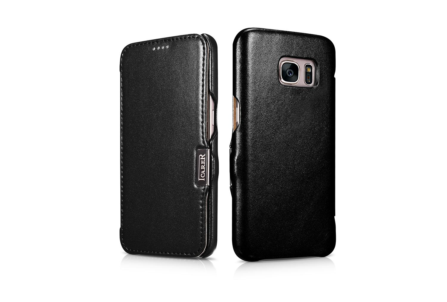 iCarer Samsung Galaxy S7 Luxury Series Side Open Genuine Leather Case 13