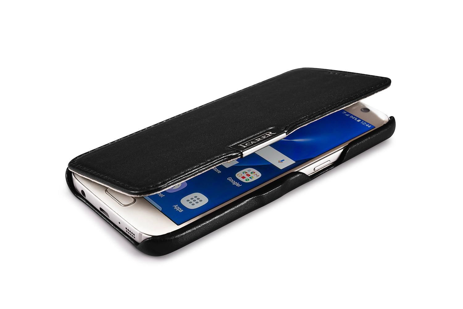 iCarer Samsung Galaxy S7 Luxury Series Side Open Genuine Leather Case 5