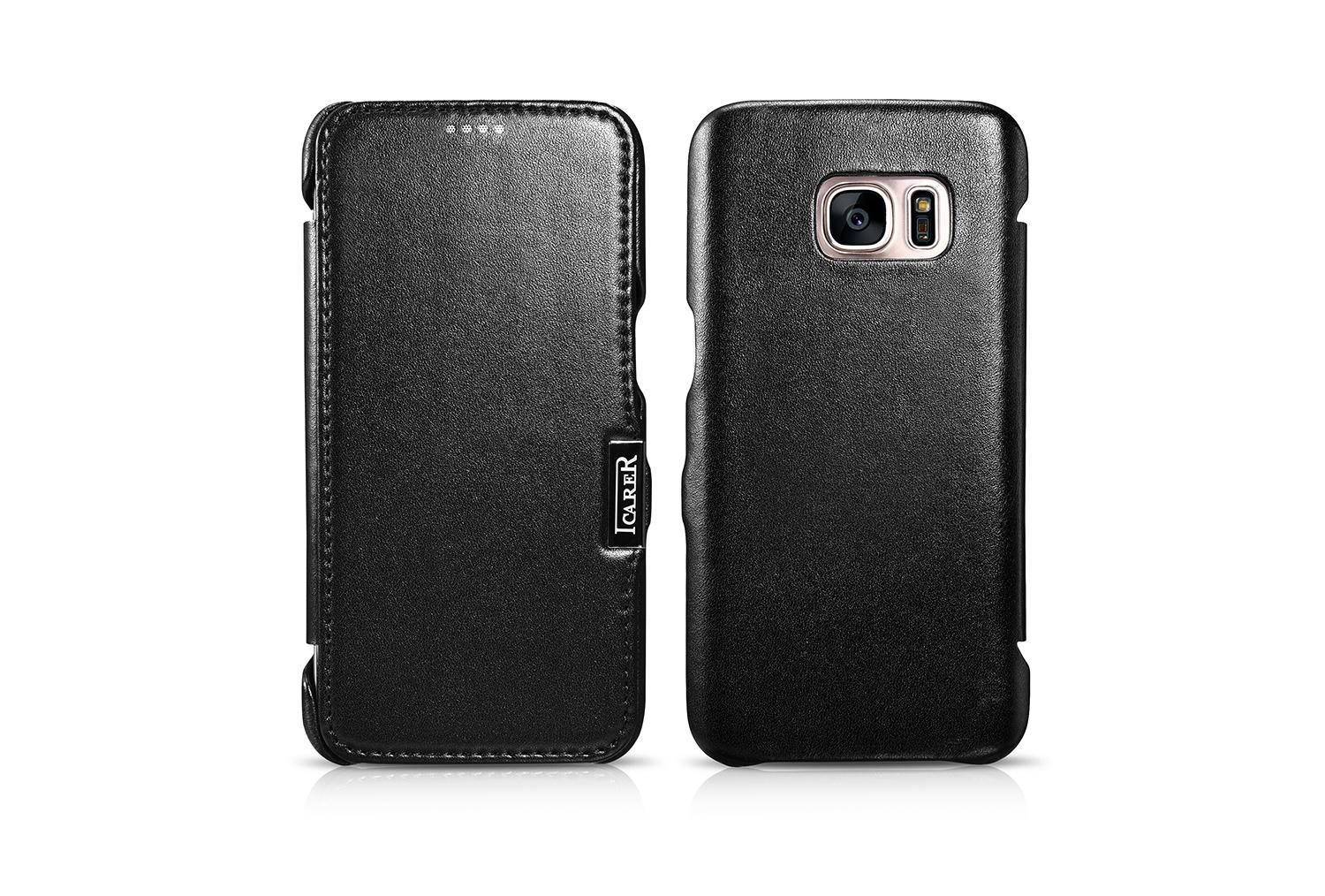 iCarer Samsung Galaxy S7 Luxury Series Side Open Genuine Leather Case 15