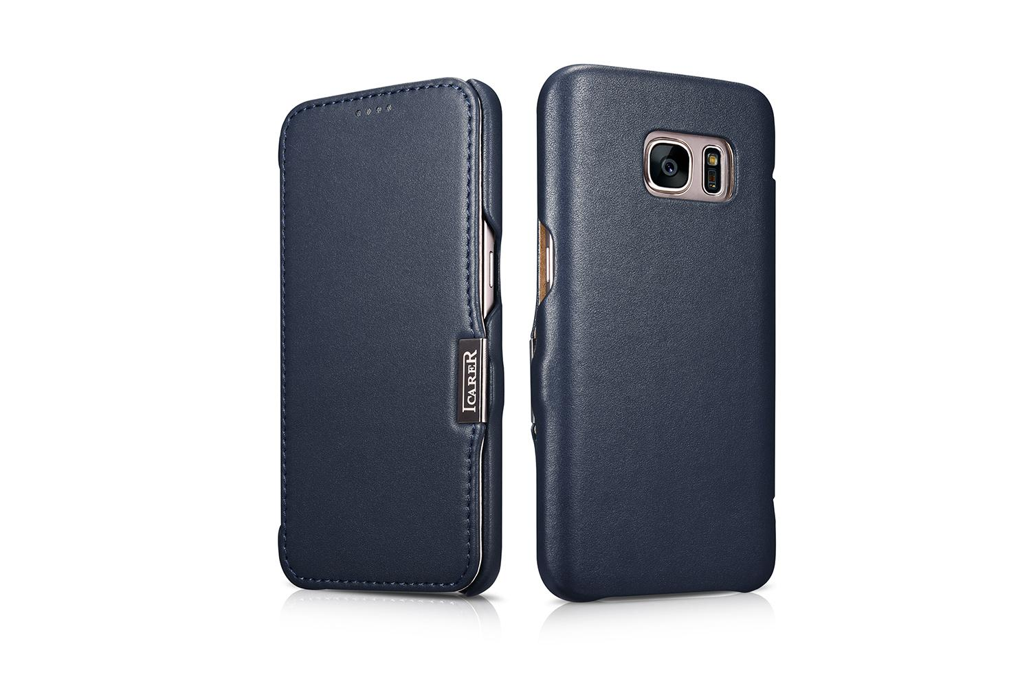 iCarer Samsung Galaxy S7 Luxury Series Side Open Genuine Leather Case 16