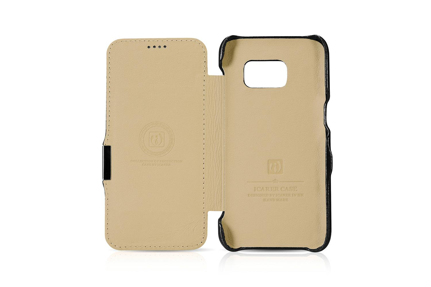 iCarer Samsung Galaxy S7 Luxury Series Side Open Genuine Leather Case 9