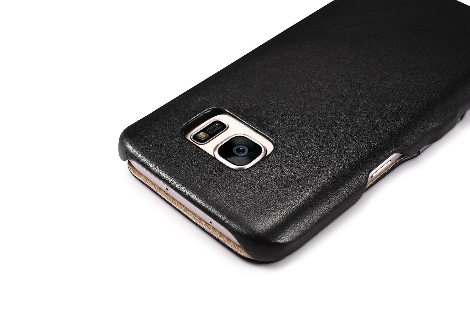 iCarer Samsung Galaxy S7 Luxury Series Side Open Genuine Leather Case 12