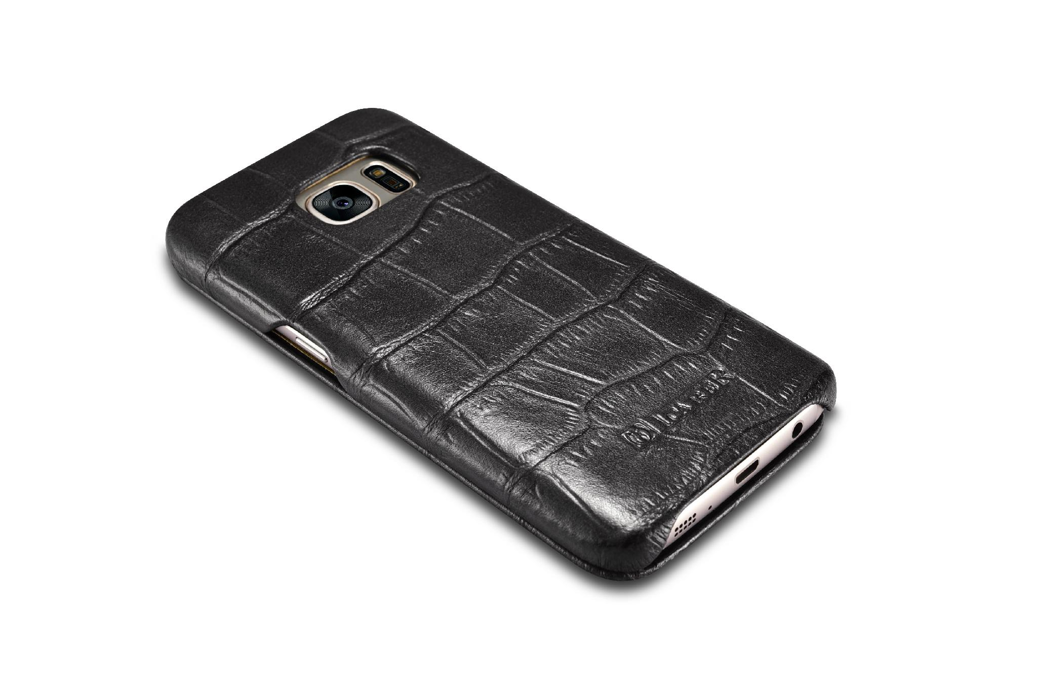 iCarer Samsung Galaxy S7 Embossed Crocodile Genuine Leather Folio Case 11
