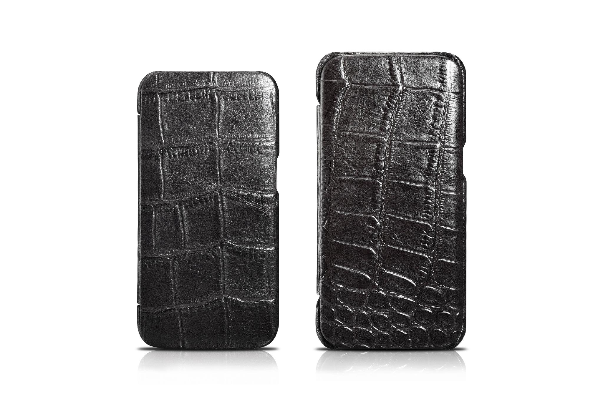 iCarer Samsung Galaxy S7 Embossed Crocodile Genuine Leather Folio Case 13