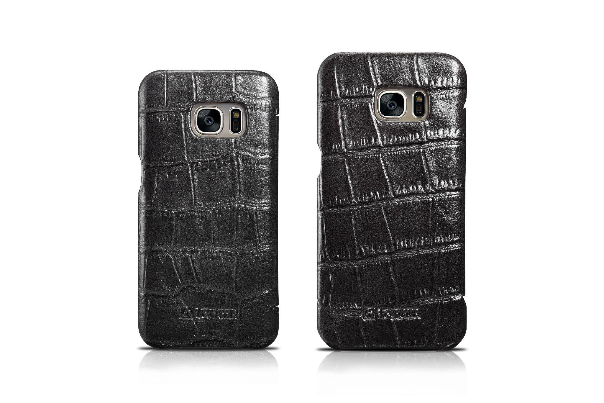 iCarer Samsung Galaxy S7 Embossed Crocodile Genuine Leather Folio Case 14