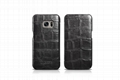 iCarer Samsung Galaxy S7 Embossed Crocodile Genuine Leather Folio Case 15