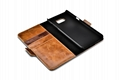 iCarer Samsung Galaxy Note 7 Oil Wax Genuine Leather Wallet Folio Case 7