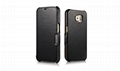 iCarer Samsung Galaxy S6 Side Open Luxury Series Genuine Leather Case Cover 13