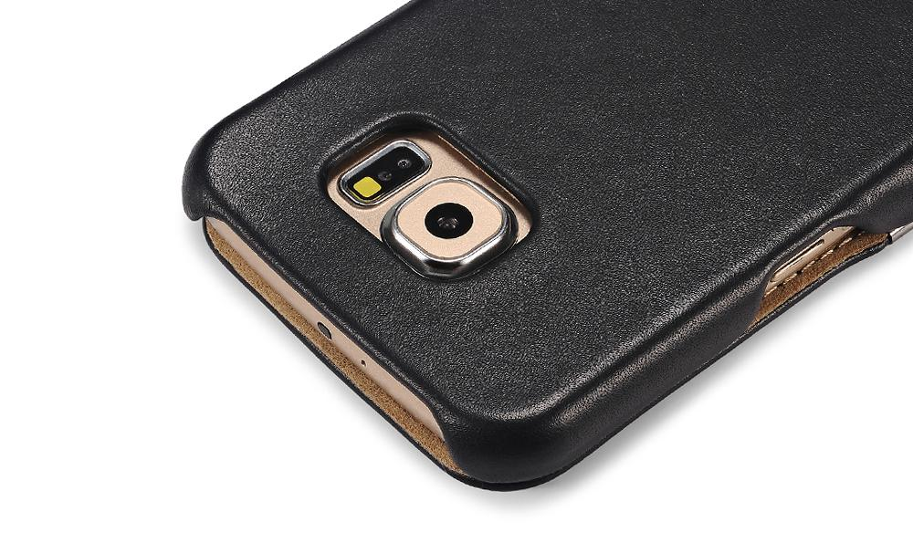 iCarer Samsung Galaxy S6 Side Open Luxury Series Genuine Leather Case Cover 7