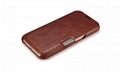 iCarer Samsung Galaxy S6 Side Open Vintage Series Genuine Leather Case Cover 4