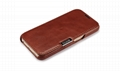 iCarer Samsung Galaxy S6 Side Open Vintage Series Genuine Leather Case Cover 3