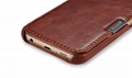 iCarer Samsung Galaxy S6 Side Open Vintage Series Genuine Leather Case Cover 7