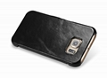 iCarer Samsung Galaxy S6 Side Open Vintage Series Genuine Leather Case Cover 14