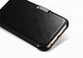 iCarer Samsung Galaxy S6 Side Open Vintage Series Genuine Leather Case Cover 11