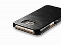 iCarer Samsung Galaxy S6 Side Open Vintage Series Genuine Leather Case Cover 15