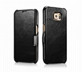 iCarer Samsung Galaxy S6 Side Open Vintage Series Genuine Leather Case Cover 16