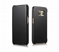 iCarer Samsung Galaxy S6 Edge Side Open Luxury Series Genuine Leather Case Cover 12