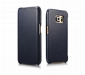 iCarer Samsung Galaxy S6 Edge Side Open Luxury Series Genuine Leather Case Cover 13