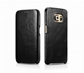 iCarer Samsung Galaxy S6 Edge Side Open Vintage Series Genuine Leather Case 17