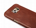 iCarer Samsung Galaxy S6 Edge Side Open Vintage Series Genuine Leather Case 7