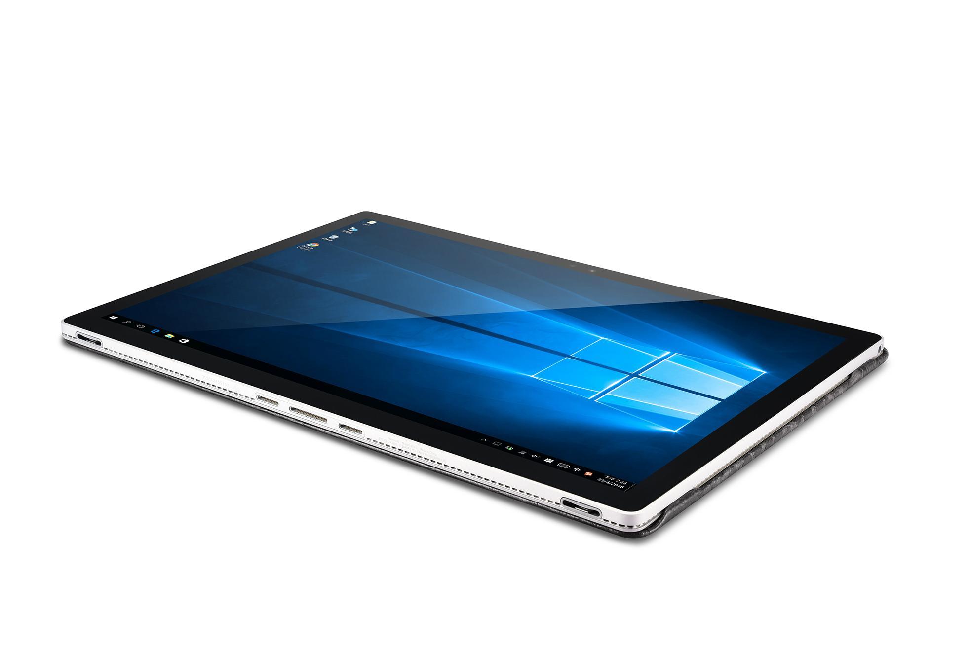 iCarer Surface Book Embossed Crocodile Genuine Leather Detachable Flip Case 11