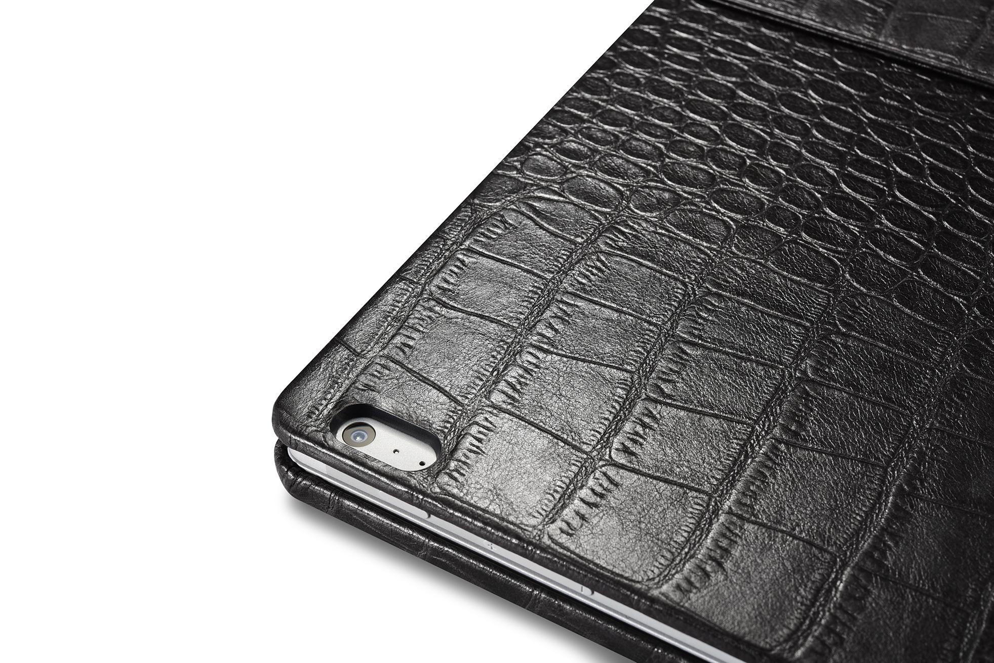 iCarer Surface Book Embossed Crocodile Genuine Leather Detachable Flip Case 17