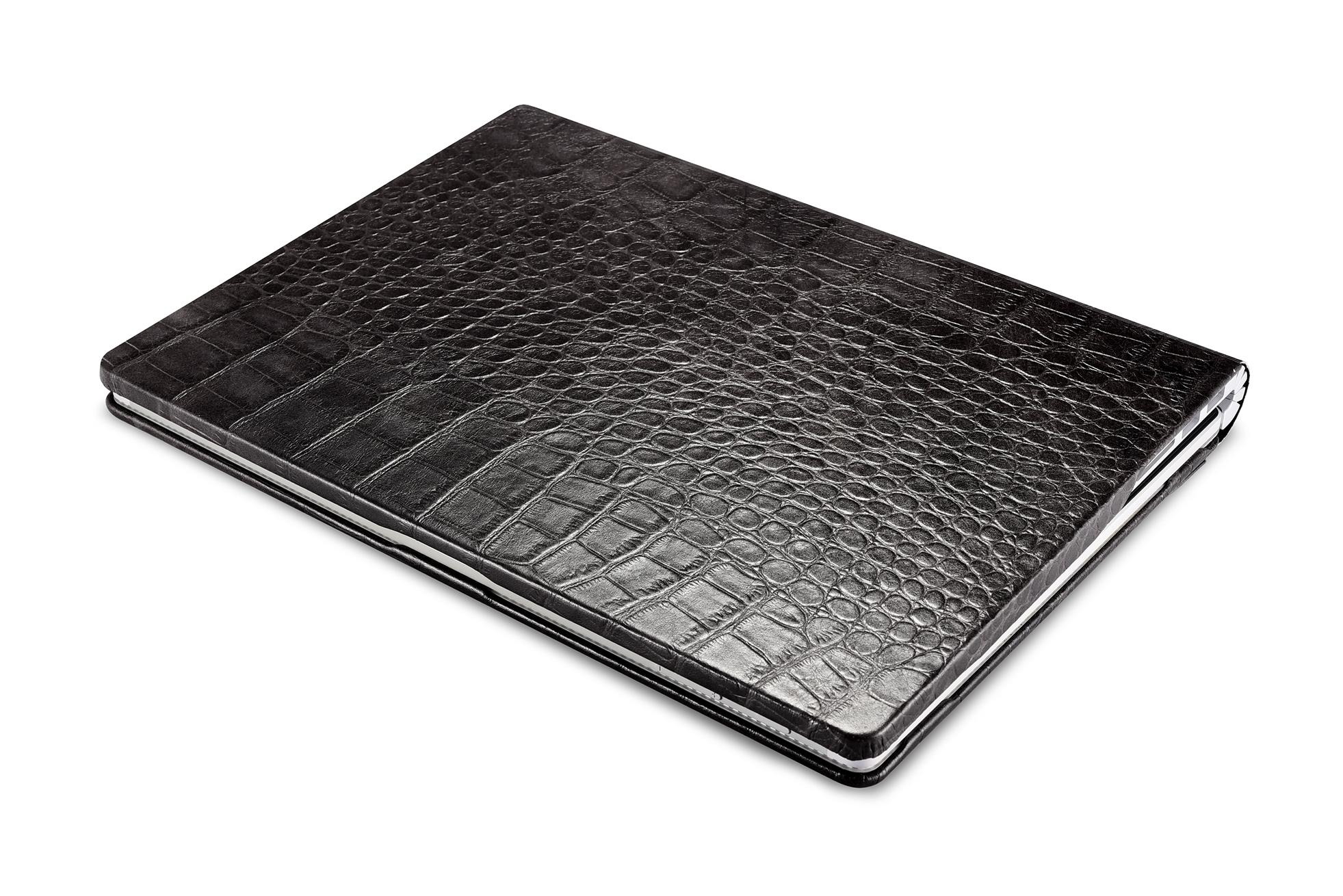 iCarer Surface Book Embossed Crocodile Genuine Leather Detachable Flip Case 16