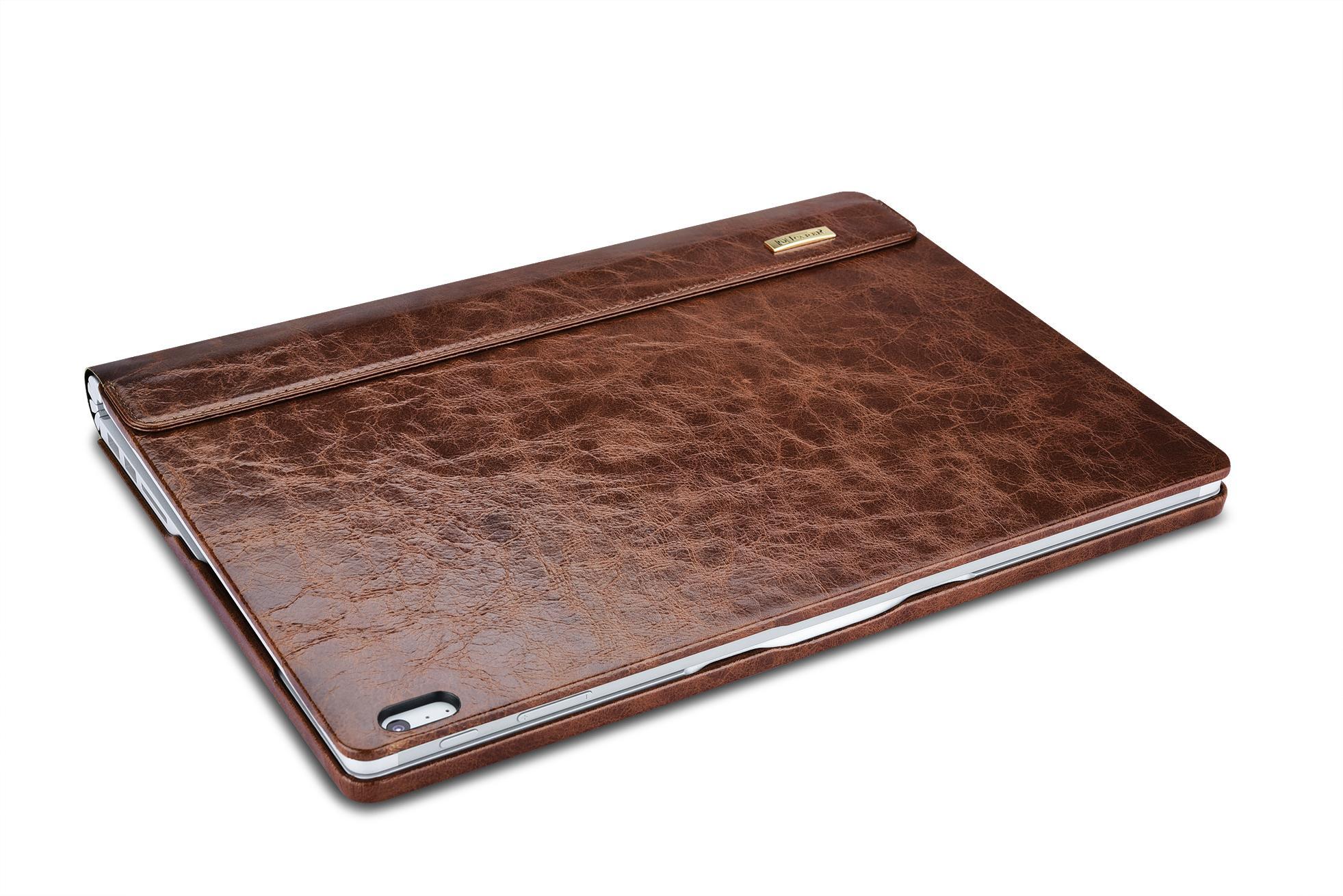 iCarer Surface Book Oil Wax Vintage Genuine Leather Detachable Flip Case 14