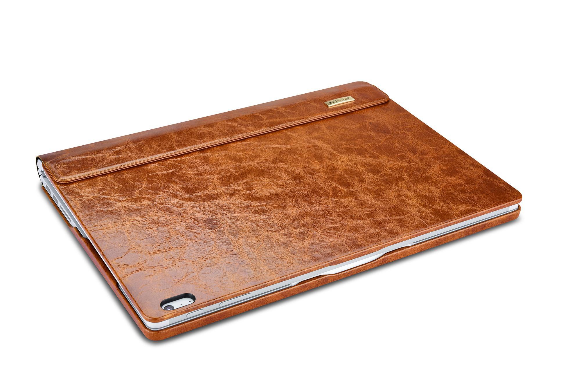 iCarer Surface Book Oil Wax Vintage Genuine Leather Detachable Flip Case 3