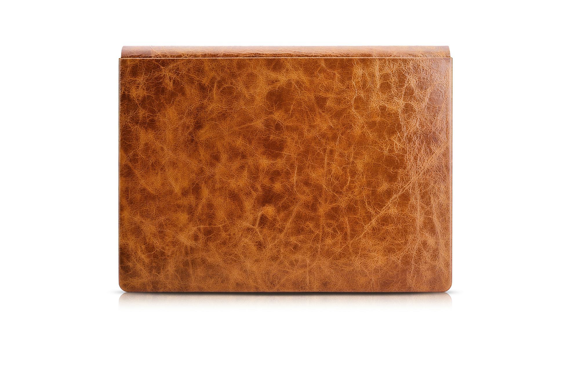 iCarer Surface Book Oil Wax Vintage Genuine Leather Detachable Flip Case 19