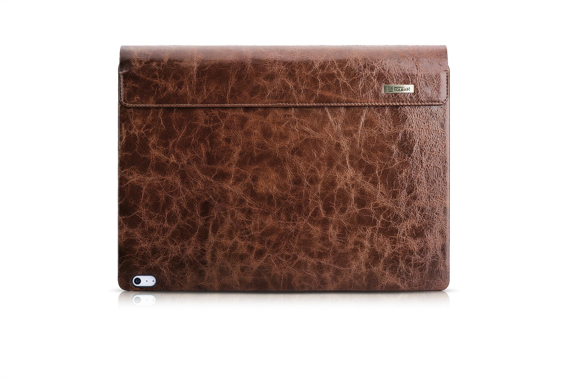 iCarer Surface Book Oil Wax Vintage Genuine Leather Detachable Flip Case 16