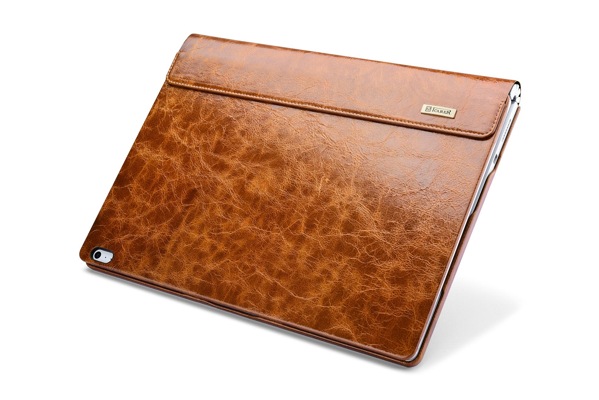 iCarer Surface Book Oil Wax Vintage Genuine Leather Detachable Flip Case 2