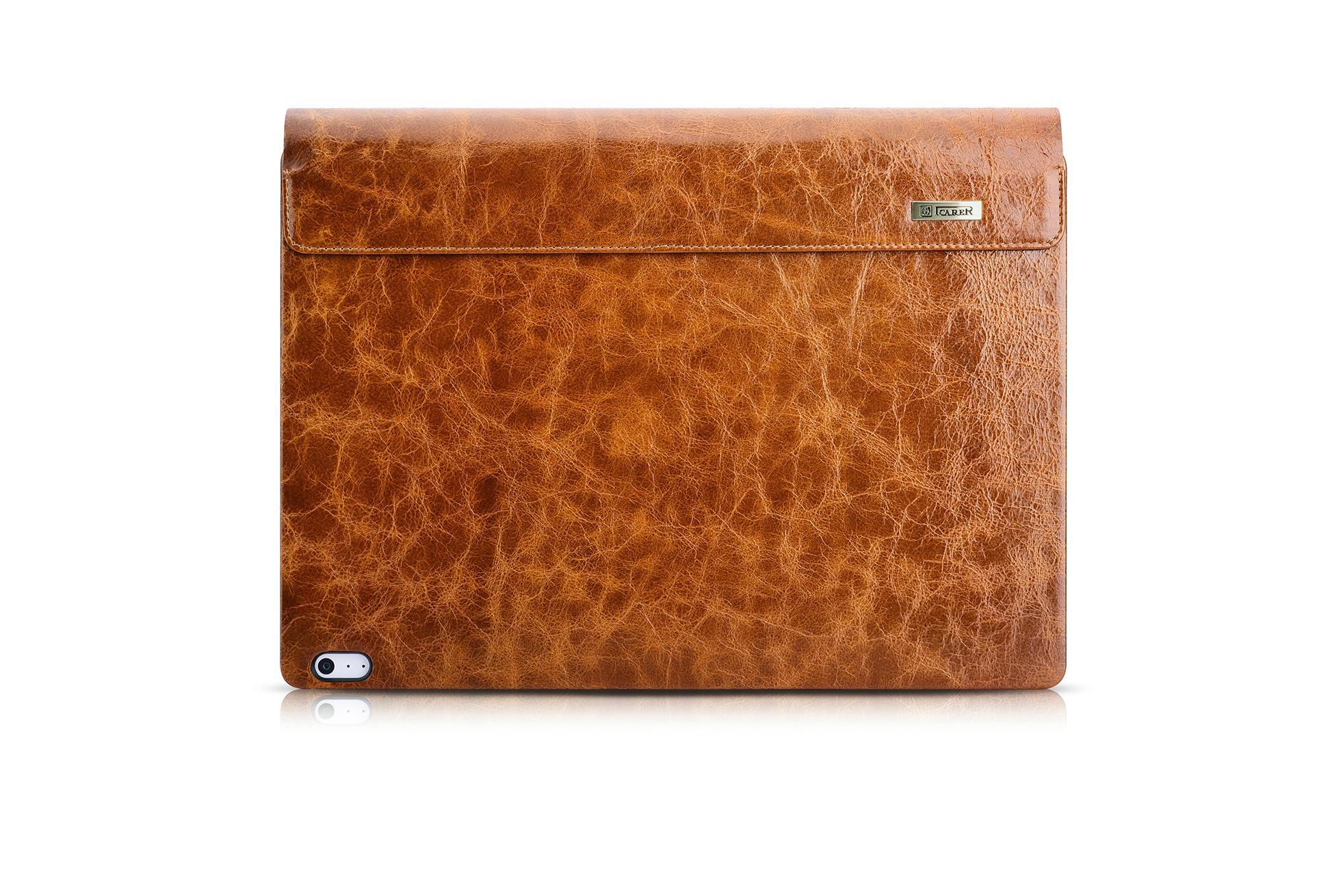 iCarer Surface Book Oil Wax Vintage Genuine Leather Detachable Flip Case 18