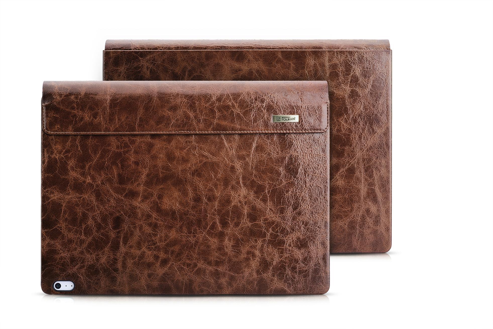 iCarer Surface Book Oil Wax Vintage Genuine Leather Detachable Flip Case 20