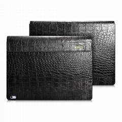 iCarer Surface Book Embossed Crocodile Genuine Leather Detachable Flip Case