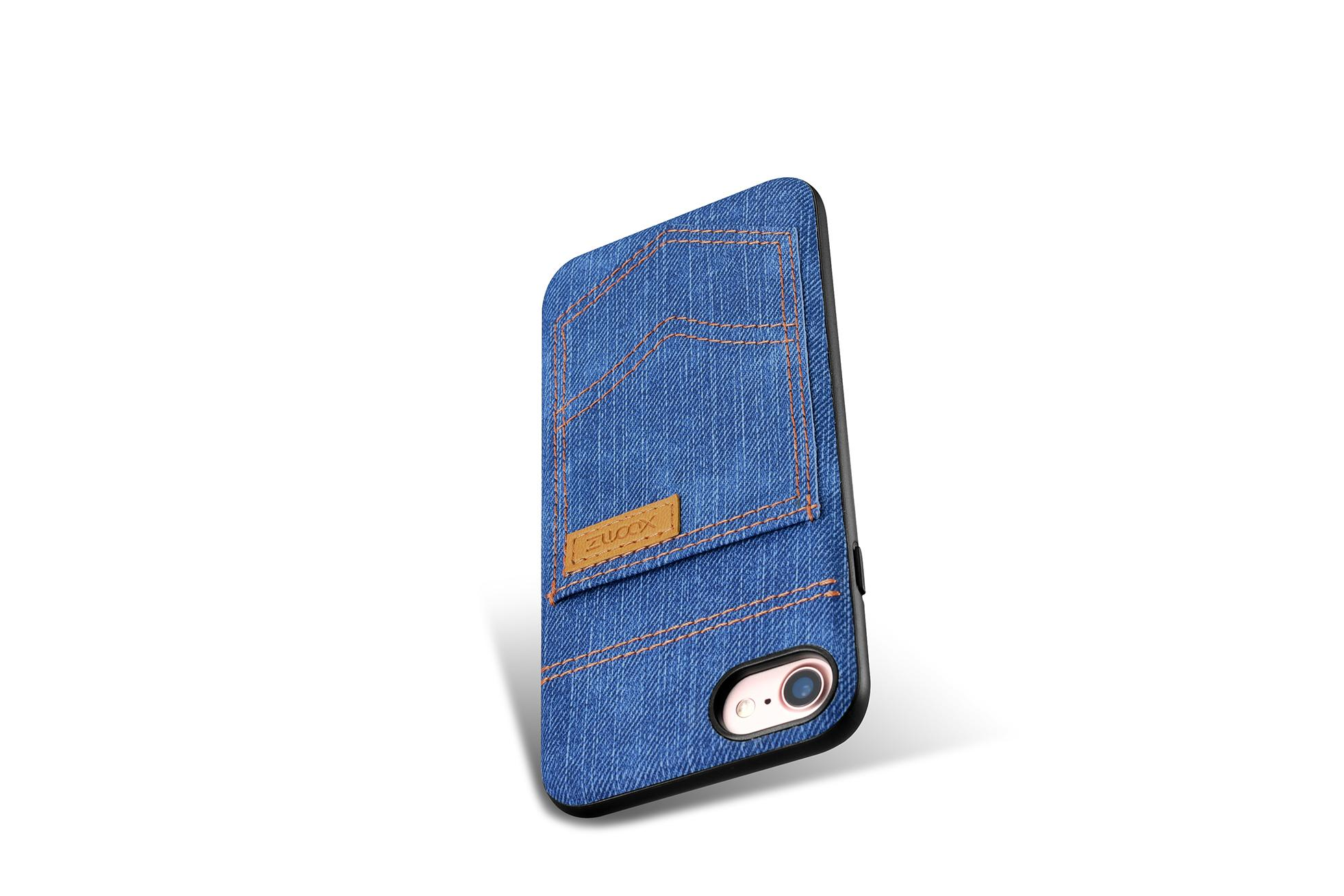 Xoomz iPhone 7 Jeans Pocket PU Back Cover 12