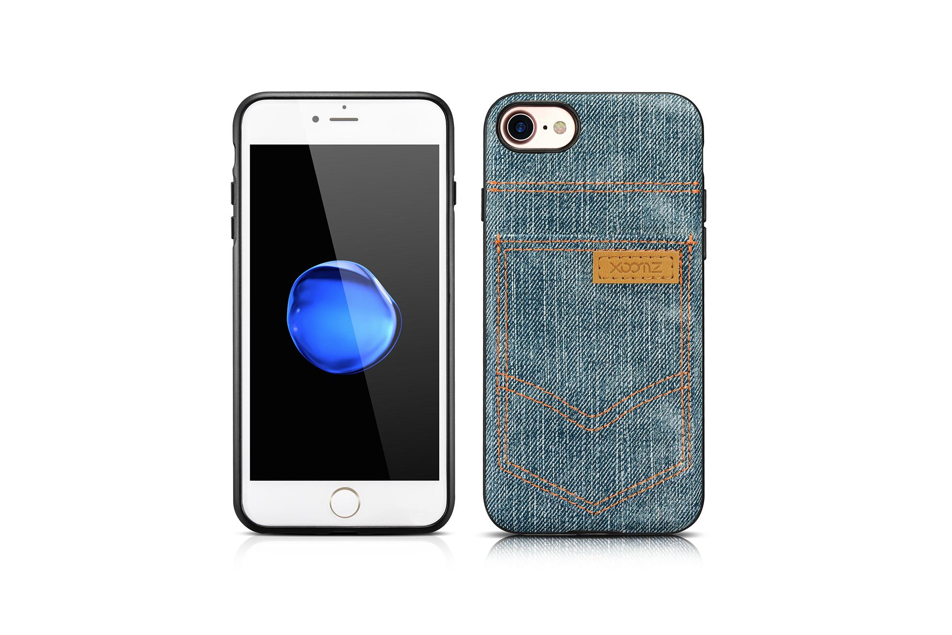 Xoomz iPhone 7 Jeans Pocket PU Back Cover 17