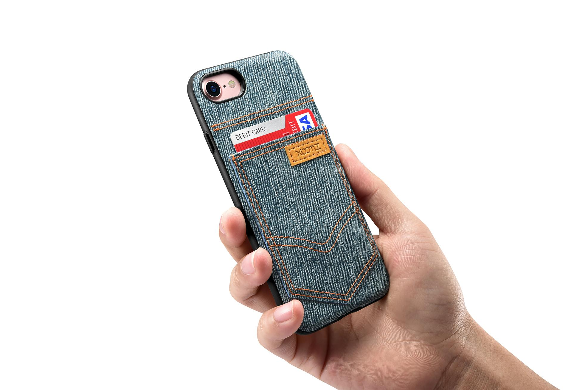 Xoomz iPhone 7 Jeans Pocket PU Back Cover 19