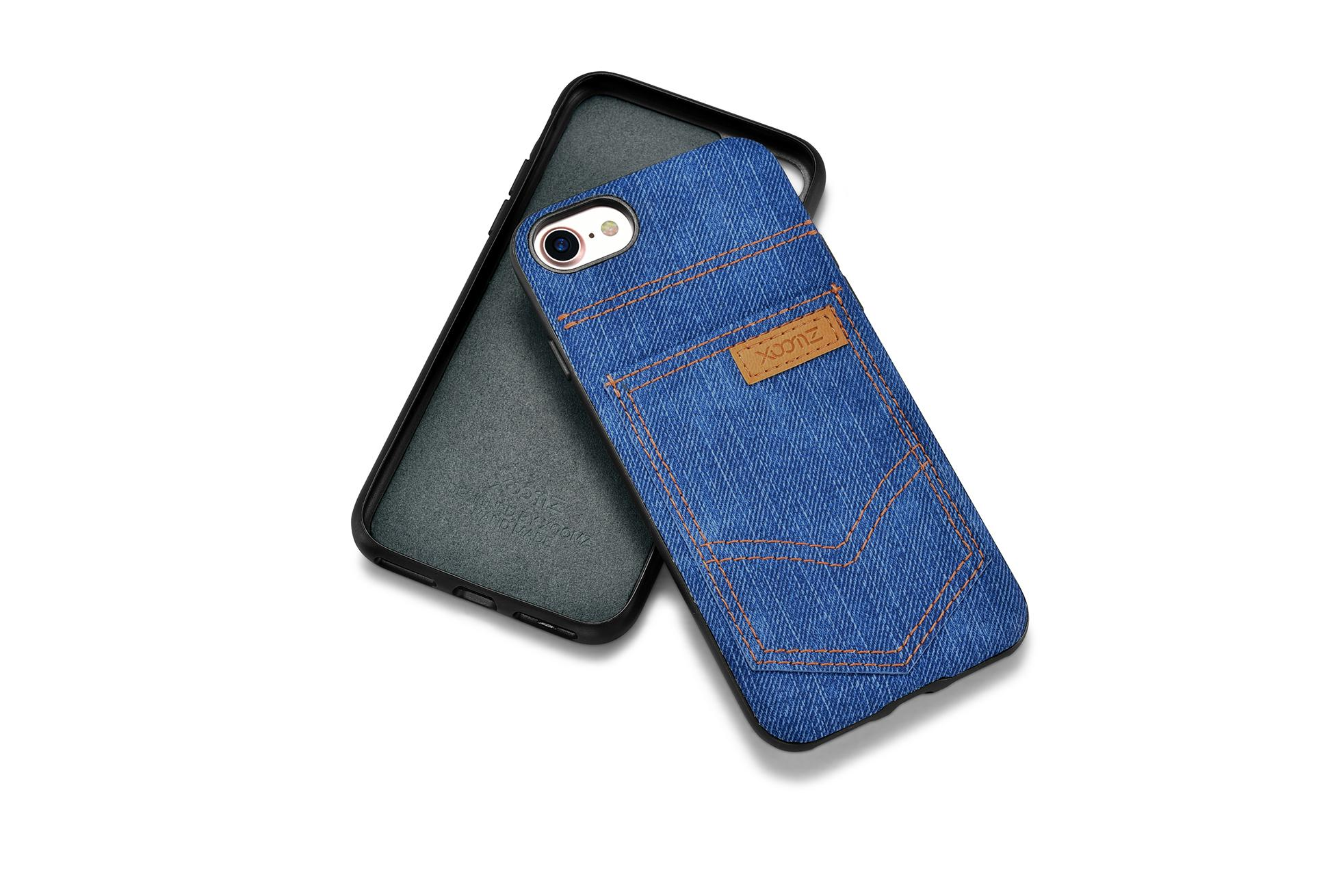 Xoomz iPhone 7 Jeans Pocket PU Back Cover 14